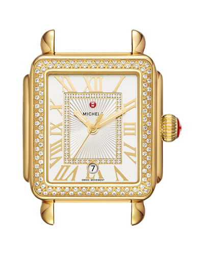 Deco Madison Bracelet Watch with Diamonds in 18K Gold Plate