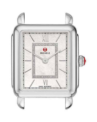 Deco II Stainless Steel Mid Diamond Dial Watch Head