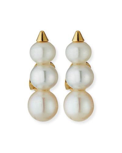 Emi Pearly Stud Spike Earrings