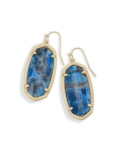 Elle Statement Drop Earrings in Aqua Apatite