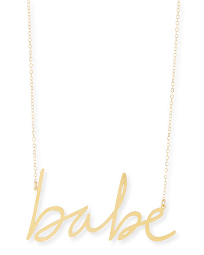 Babe Large Pendant Necklace