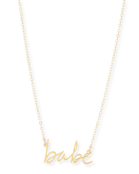 Brevity Babe Small Pendant Necklace