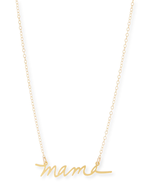 Mama Small Pendant Necklace