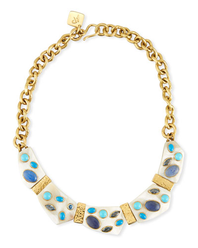 Jasiri Light Horn Collar Necklace