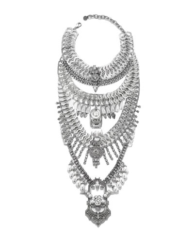 Falkor VII Crystal Statement Necklace