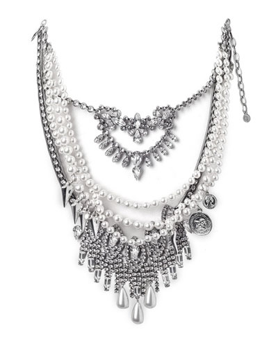 Rococo Pearly Beaded Statement Necklace