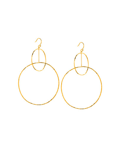 Interlocking Large Circle Drop Earrings