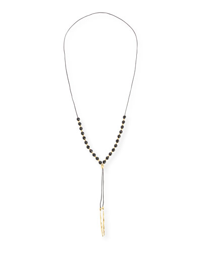 Power Gemstone Black Onyx Bead Necklace