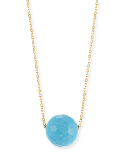Power Gemstone Turquoise Bead Necklace