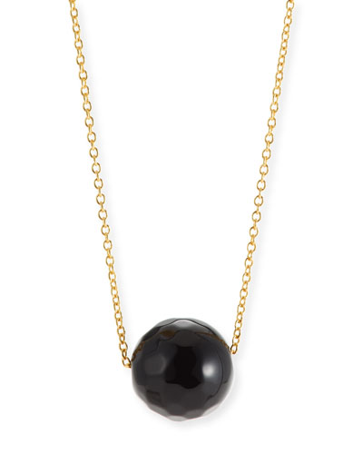 Power Gemstone Onyx Bead Necklace