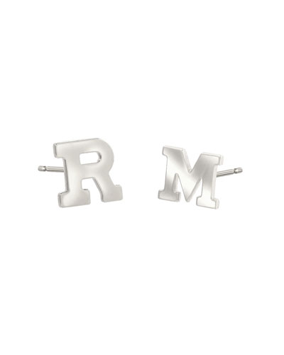 on stud yellow gold earrings womens shop rhinestone overstock b letter bargains initial