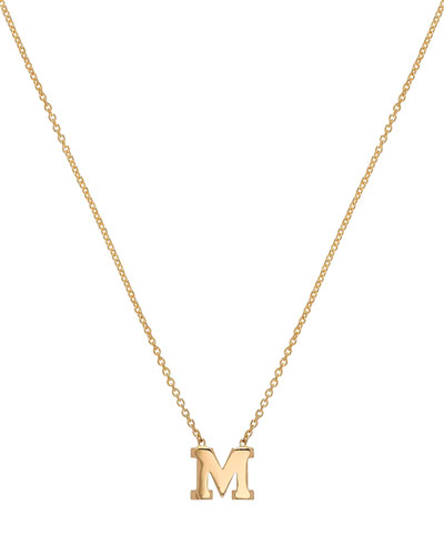 Regin Personalized Initial Pendant Necklace in 14K Yellow Gold