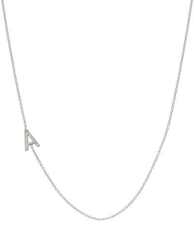 Side Chic Personalized Asymmetric Initial Necklace with Tiny Diamond Detail ...