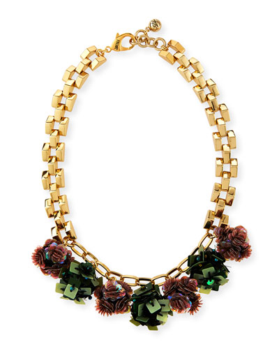 Rumba Sequined Statement Necklace