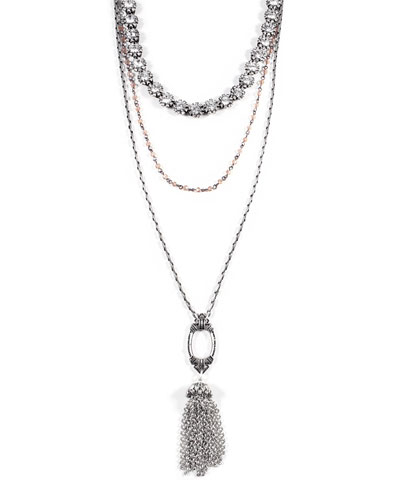 Lillet Long Layered Tassel Necklace
