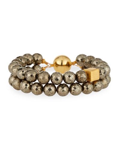 Faceted Pyrite Bracelet