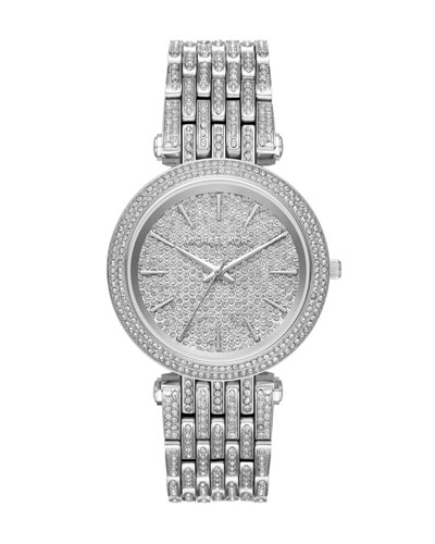 Darci Stainless Steel Bracelet Watch with Crystals