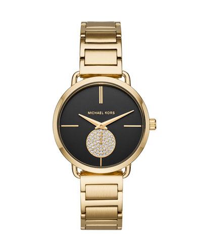 Portia Yellow-Golden H-Link Watch