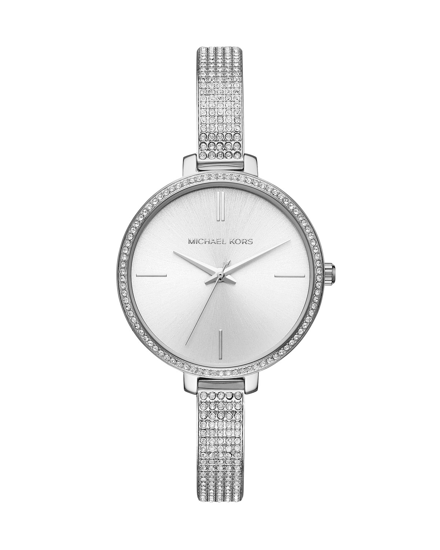 Jaryn Stainless Steel Crystal Bangle Watch