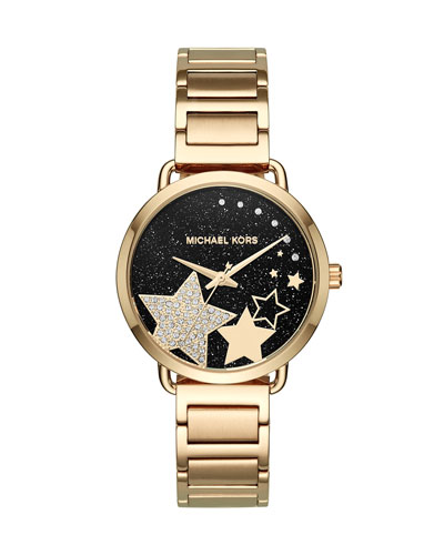 Portia Star Yellow-Golden Bracelet Watch