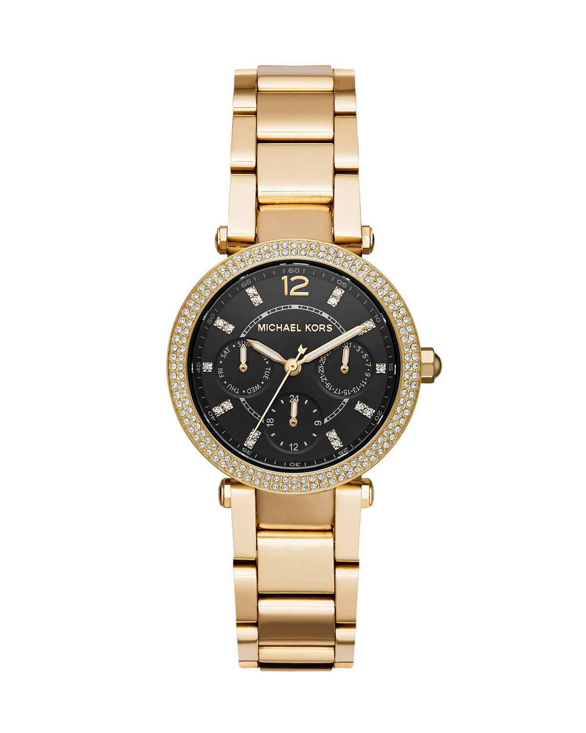 Mini Parker Yellow-Golden Chronograph Watch