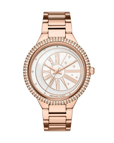 Taryn Celestial Rose-Golden Bracelet Watch