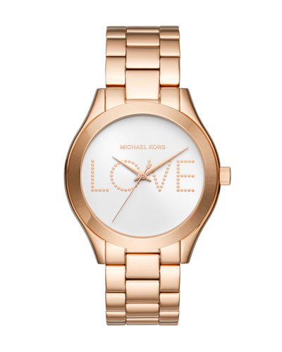 Slim Runway Love Rose-Golden Bracelet Watch
