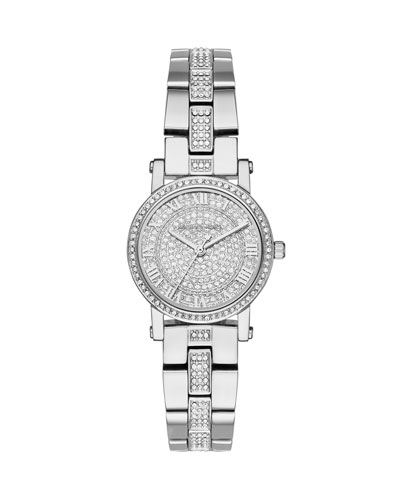 Petite Norie Stainless Steel Bracelet Watch with Crystals
