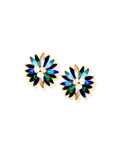 Marquis Crystal Clip-On Earrings
