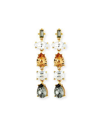 Five-Drop Crystal Earrings
