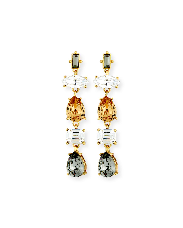 Five-Drop Crystal Earrings