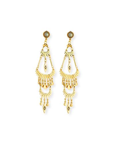 Tiered Golden Drop Earrings