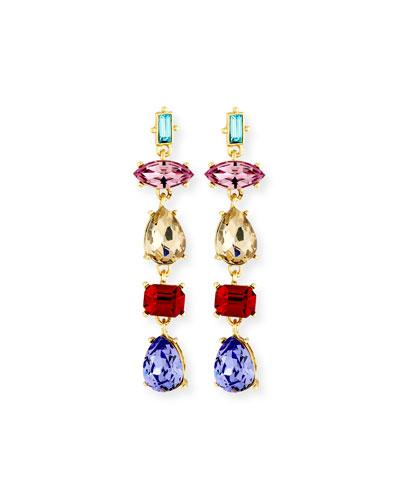 Sequin Mixed-Shape Crystal Drop Earrings 3t2ZUoyJ