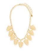 Golden Leaf Statement Necklace