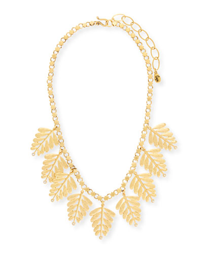 Golden Leaf Statement Necklace