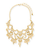 Tiered Golden Bib Necklace