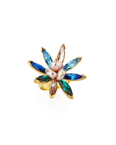 Marquis Crystal Statement Ring