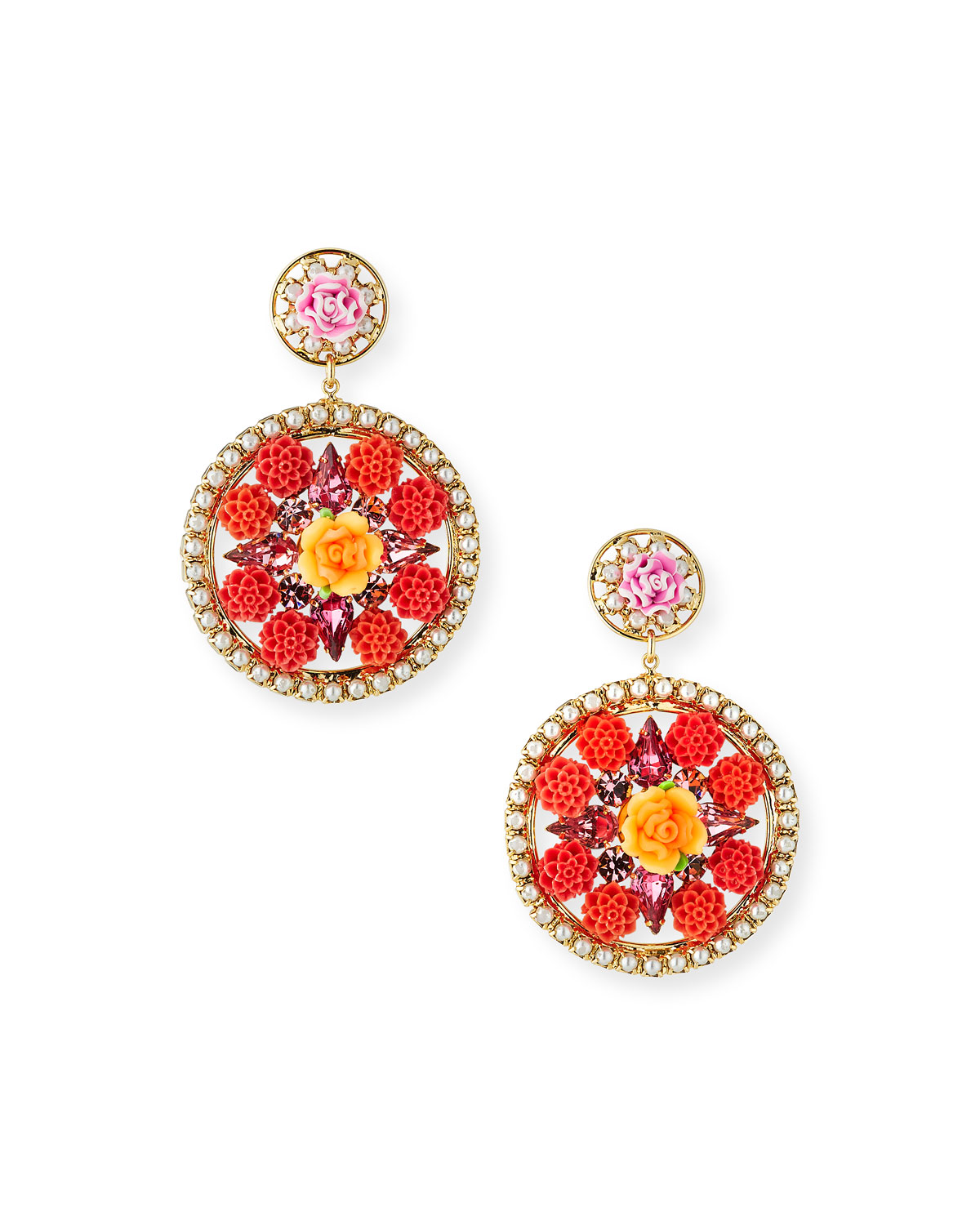 Maddie Floral Statement Earrings