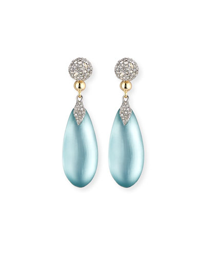 Pavé Crystal & Lucite® Teardrop Earrings