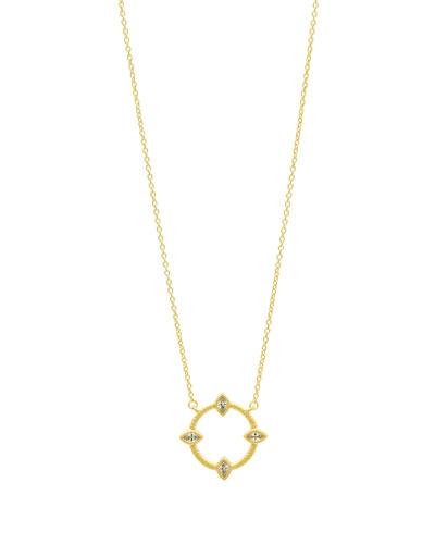 Open CZ Stones Marquis Pendant Necklace