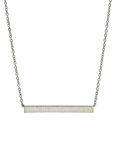 Pavé Crystal Bar Necklace