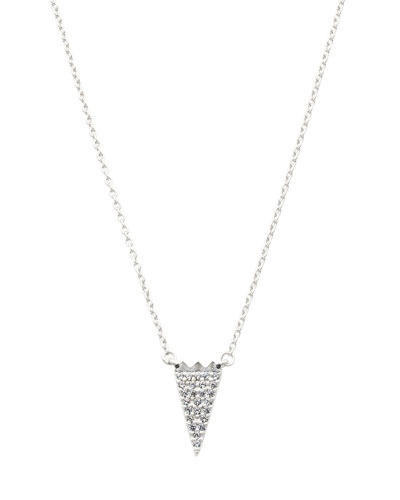 Pavé CZ Stones Arrow Necklace