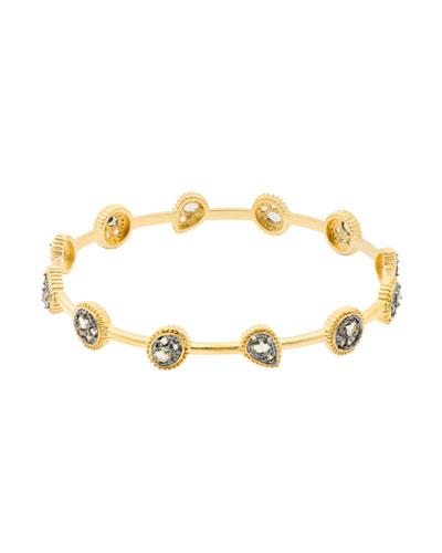 Oval Crystal Bangle Bracelet