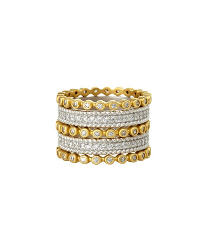 Five-Row Pavé Crystal Stacking Ring
