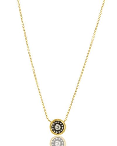 Nautical Button Pendant Necklace