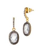 Tiny Raindrop CZ Stones Earrings