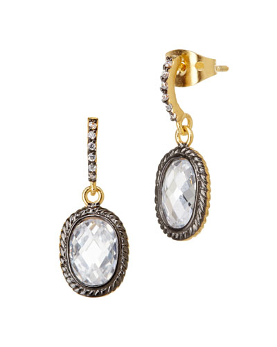 Tiny Raindrop CZ Stones Earrings