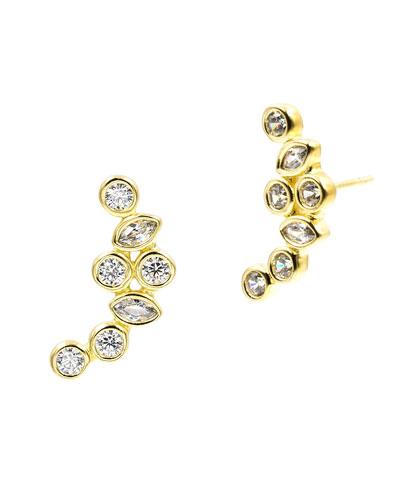 Geo Radiance Climber Earrings