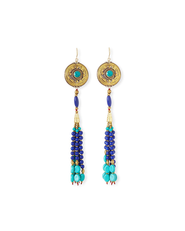 Antique-Inspired Tassel Drop Earrings