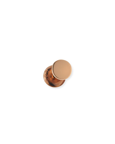 Single Disc Stud Earring in 14K Rose Gold
